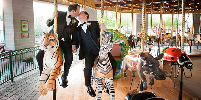 LGBT Wedding Carousel - DeAnda Photography - Lake in the Hills, Illinois
