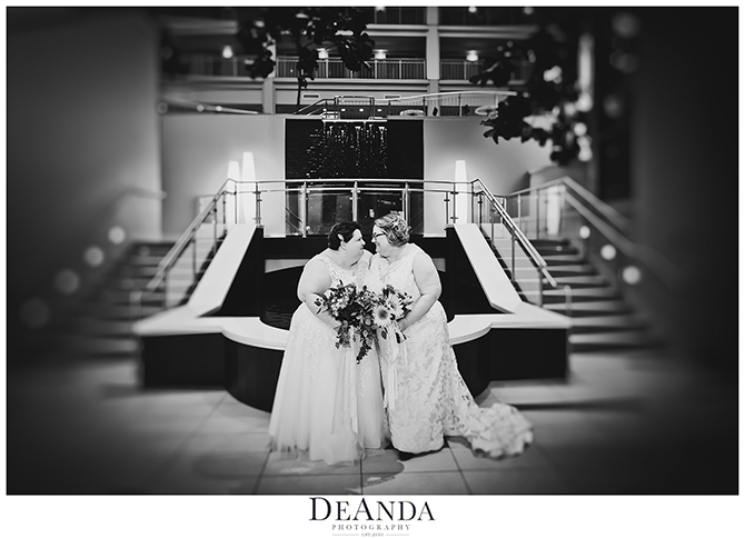 lesbian couple on their wedding day - DeAnda Photography - Lake in the Hills, Illinois