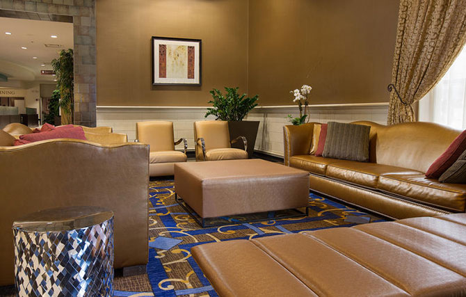 Doubletree O'Hare Guest seating