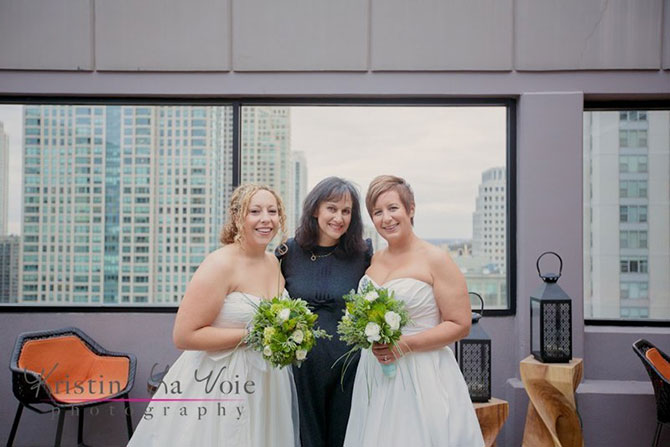 Illinois lesbian wedding performed by Flow Ceremonies