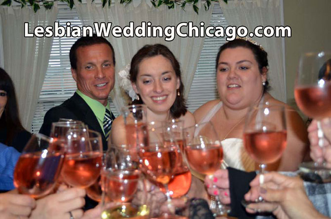 Gay Wedding Chicago Site - pink zinfandel wedding toast