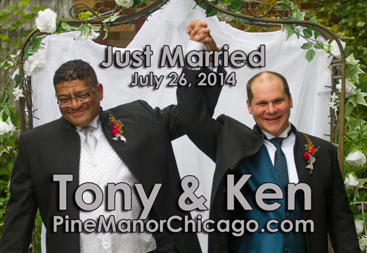 Gay Wedding Chicago Site - Reverend Pamela performing same-sex marriage ceremony