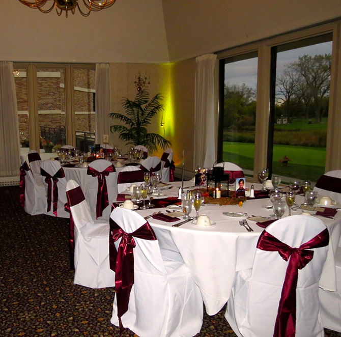 Highland Park Country Club - Reception site with uplighting