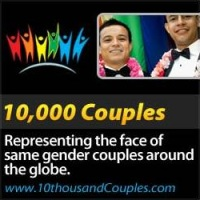 10,000 couples logo gay weddings