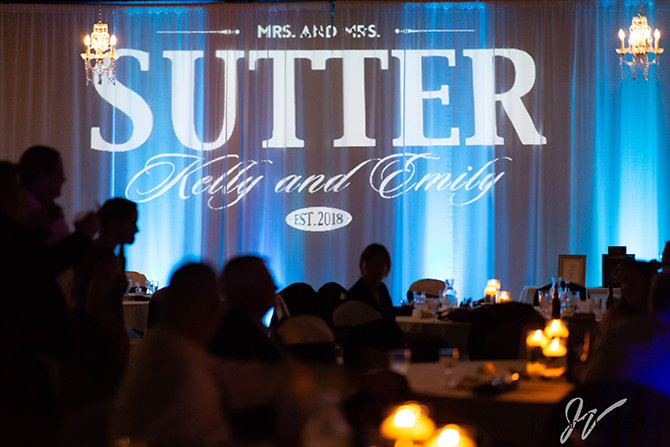 Same-Sex Wedding Gobo - Parkway Banquets