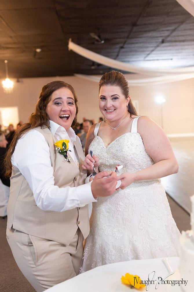 LGBT Couple just married at Parkway Banquets