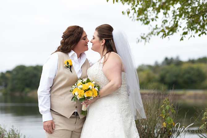 Lesbian Wedding at Parkway Banquets Chicago North Suburbs
