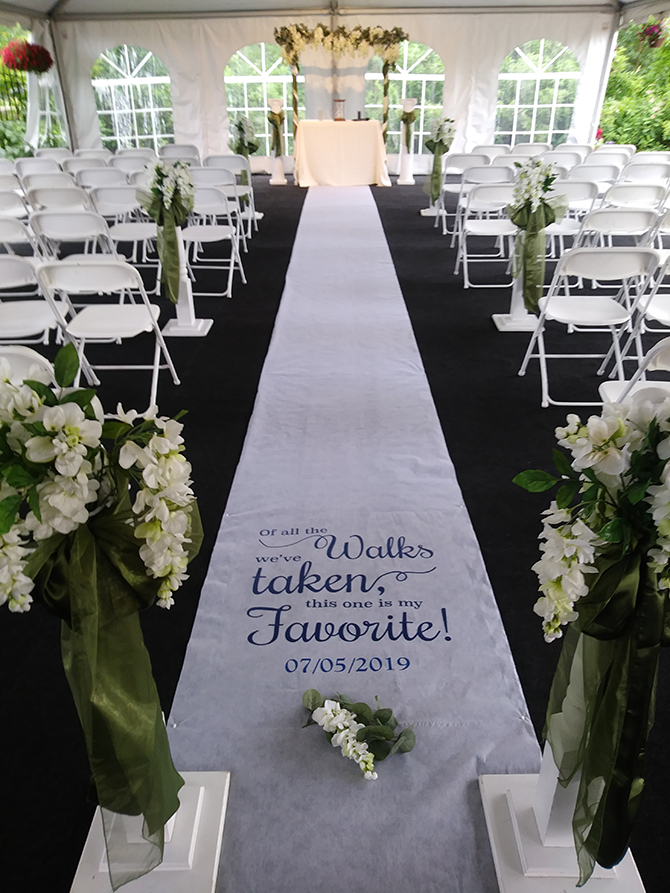 Wedding Ceremony Aisle - Parkway Banquets and Catering