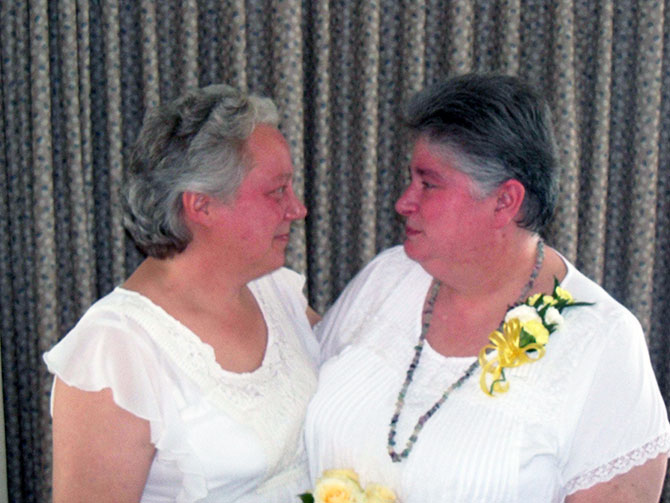 Rose LifeCycle Ceremonies - Same-sex wedding couple