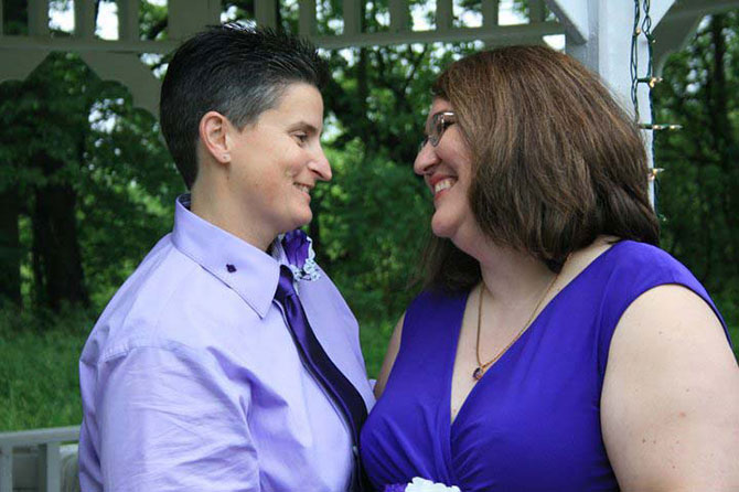 Rose LifeCycle Ceremonies - LGBT just married couple