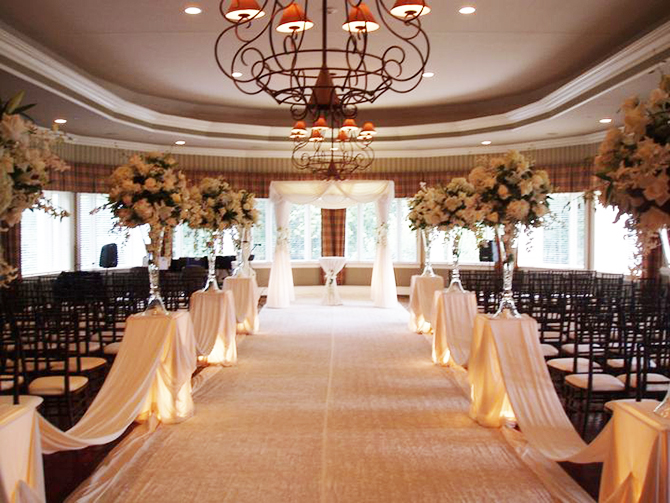 Indoor Wedding Ceremony at Royal Melbourne Country Club Lake County, IL
