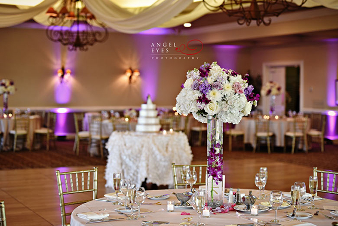 Purple Wedding Reception at Royal Melbourne Country Club