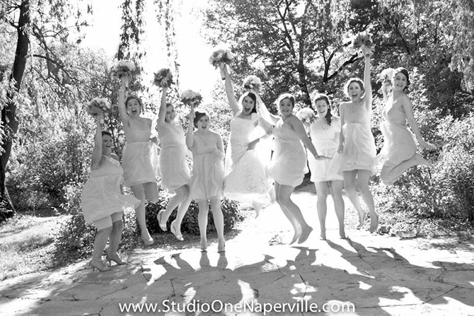 Studio One Photography & Video - Black and white stills of wedding party