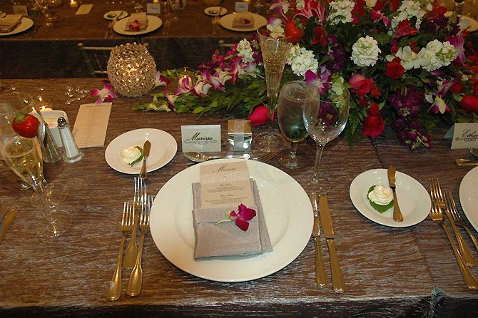 The Stonegate Conference and Banquet Centre - Reception place setting