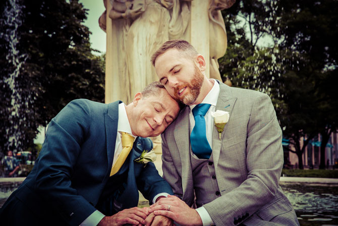 Bayline Studios Photography and Events - Portrait of Grooms in the park