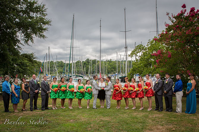 Bayline Studios Photography and Events - Photo of wedding party on the water