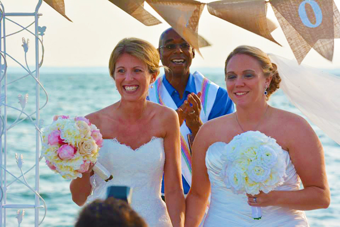Black Walnut Point Inn - Lesbian wedding ceremony