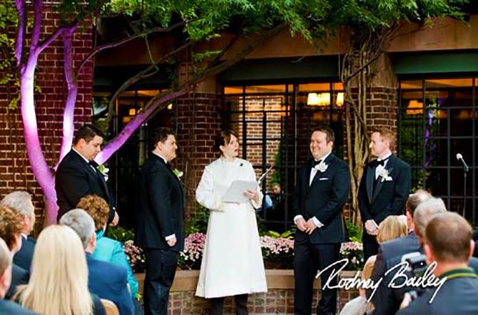Ceremony Officiants Ellicott City Maryland Outdoor Gay Wedding