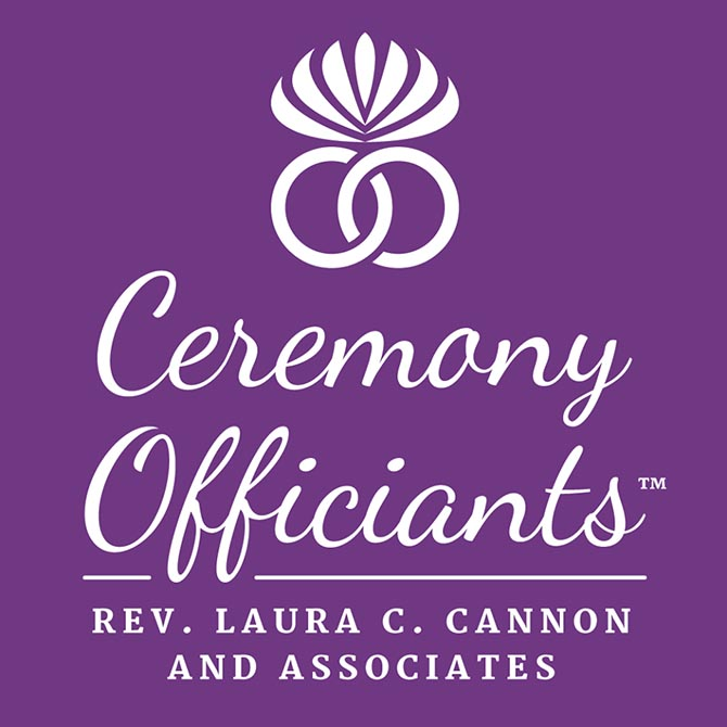 Ceremony Officiants Ellicott City Maryland Purple Logo