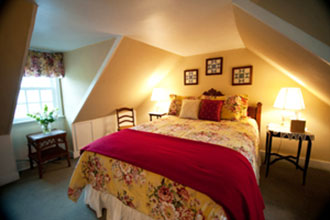Hambleton Inn - the Michener Suite has an Eastlake antique queen size bed