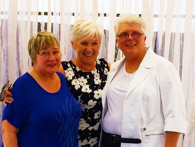 MDDC Weddings - LGBT Wedding Brides with Officiant Joyce Hilbery