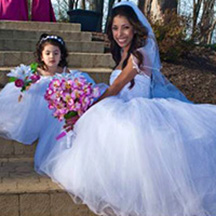 Photographic Pages - Bride and flower girl