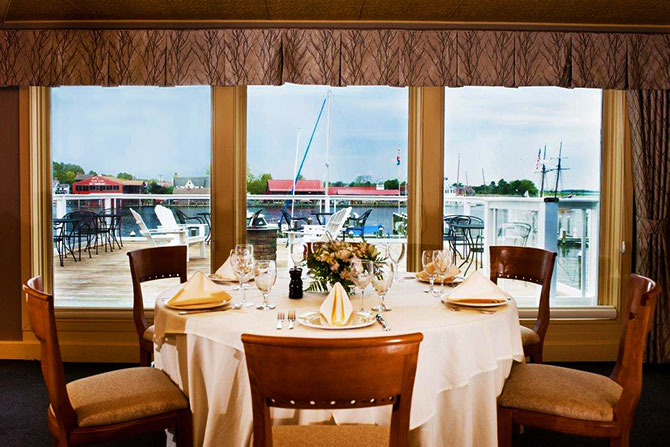 St Michaels Harbor Inn Elegant Dining With Marina View