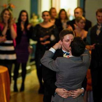 Historic Oakland Columbia Maryland Gay Couple Kissing On The Dance Floor