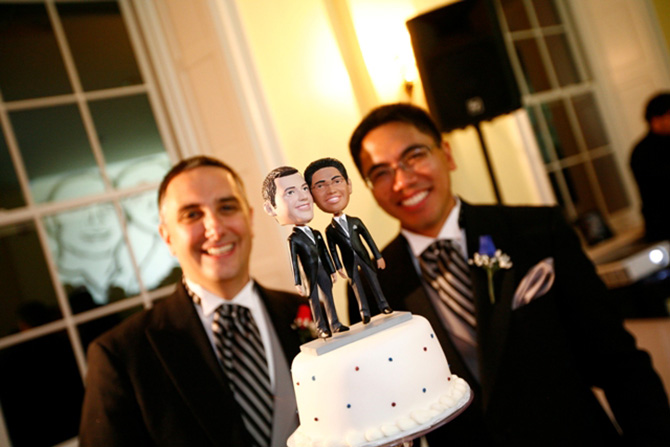 Historic Oakland Columbia Maryland Gay Couple With Cake Topper