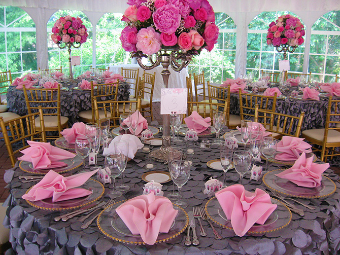 Historic Oakland Columbia Maryland Wedding Reception In Pink & Grey