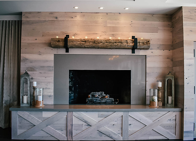 Fireplace - Nahant, MA LGBT Wedding Reception Venue - The Oceanview of Nahant