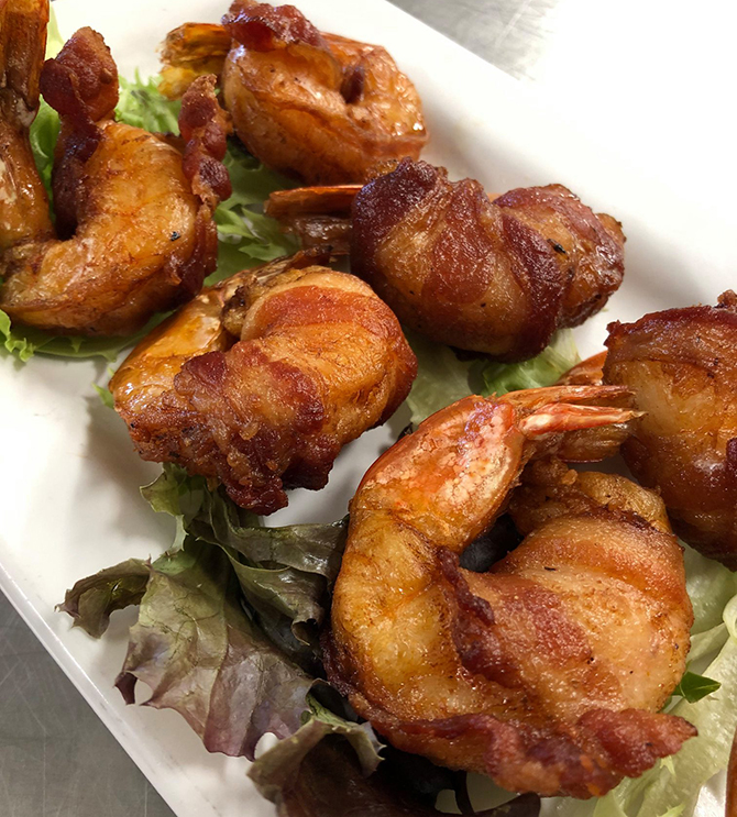 Bacon Wrapped Shrimp - Nahant, MA LGBT Wedding Reception Venue - The Oceanview of Nahant