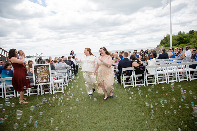 LGBT Wedding Ceremony Bubbles - Nahant, MA LGBT Wedding Reception Venue - The Oceanview of Nahant