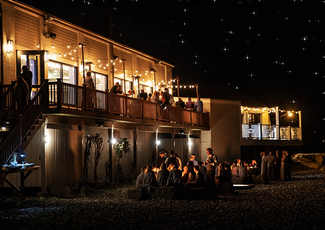 Reception under the stars on the beach - Nahant, MA LGBT Wedding Reception Venue - The Oceanview of Nahant