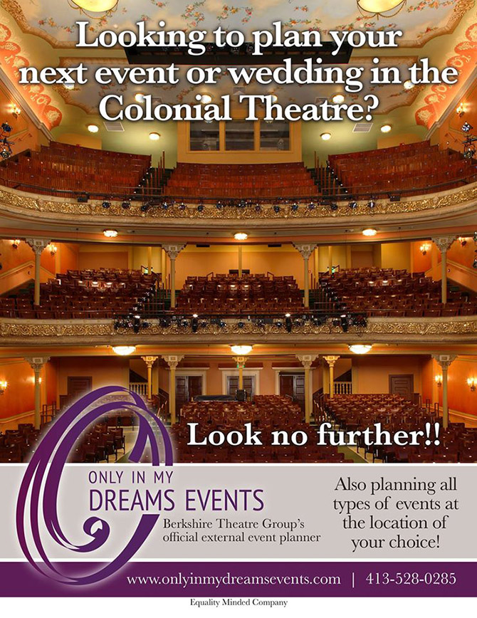 Colonial Theatre Wedding - Berkshires, Massachusetts- Only In My Dreams Events