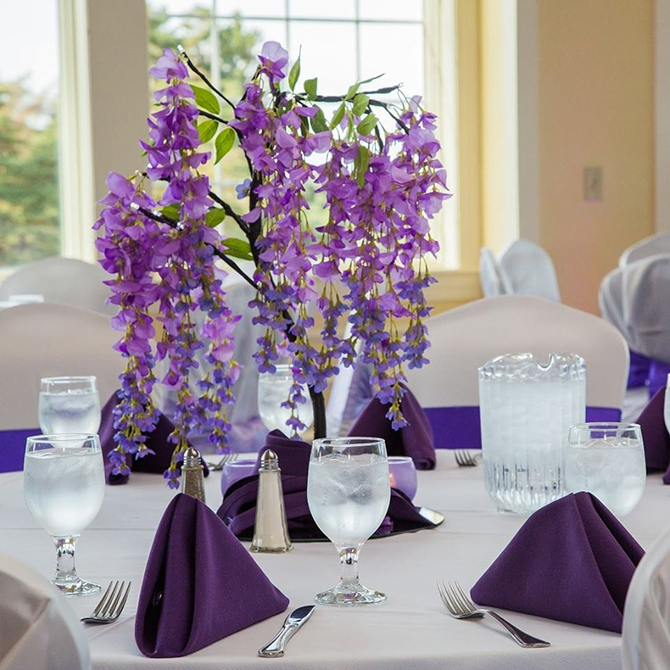 Wedding Centerpiece - Berkshires, Massachusetts- Only In My Dreams Events