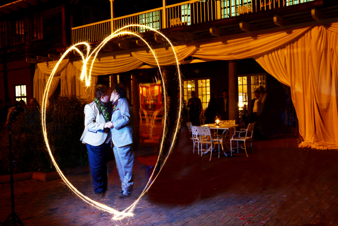LGBT Couple wedding sparkler heart - Charnell Timms Photography Maple Grove Minnesota