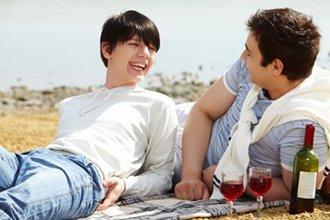California Wine Country Wedding Packages Gay Couple With Wine