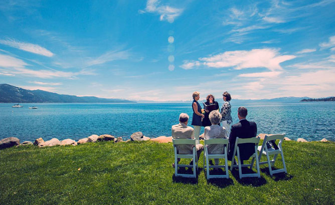 Lake Tahoe LGBT Wedding Ceremony Officiant Lesbian Wedding