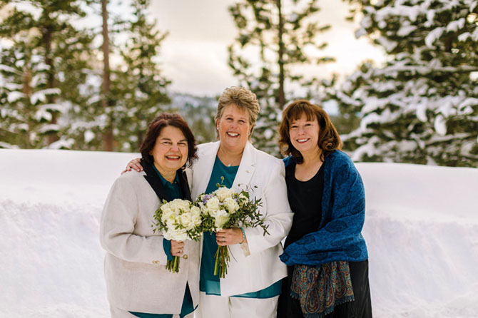 Lake Tahoe LGBT Wedding Ceremony Officiant Lesbian Ceremony