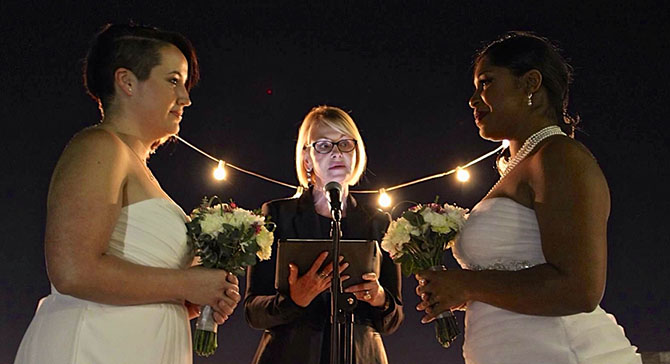 Lesbian vow wedding smallermistakingga for Gay wedding packages las vegas