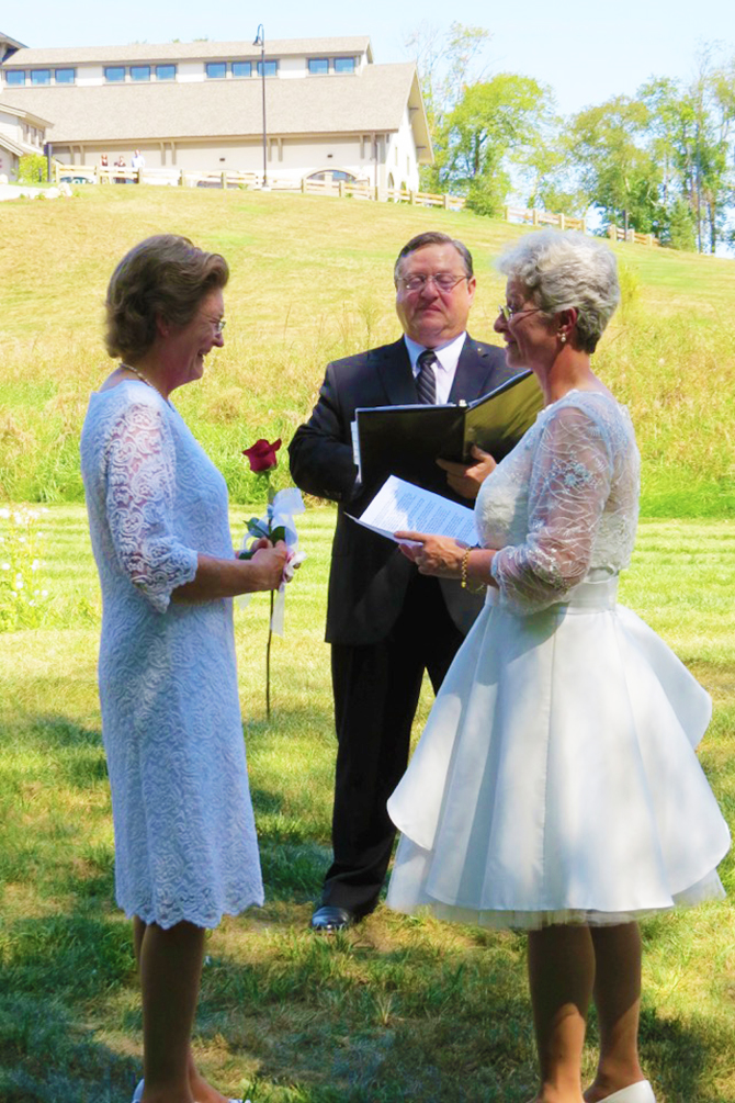 Reverend Ernie Chiaradonna LGBTQ Wedding Officiant in New Hampshire