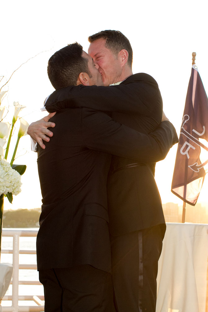 Christopher Lane Photography - Gay grooms wedding kiss