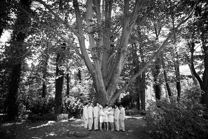 Christopher Lane Photography - Black & White Photo Lesbian Wedding Party