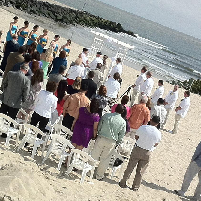 Crystal Mary Us -Wedding ceremony on the beach with ocean backdrop