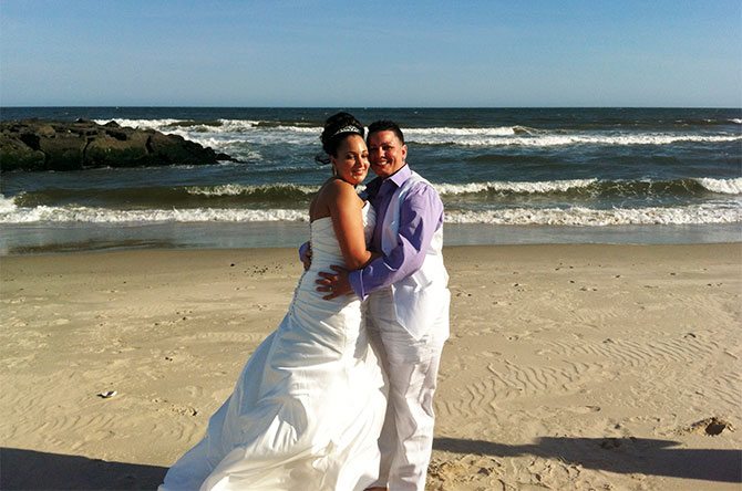 For This Joyous Occasion - Lesbian brides by the ocean