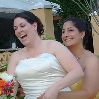 Lesbian brides on their wedding day - New Jersey