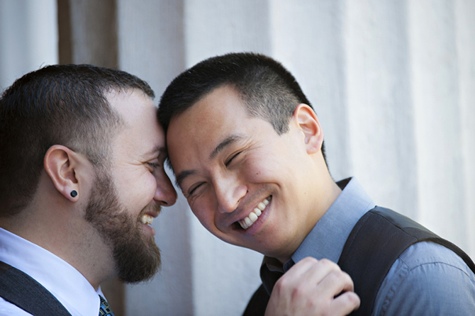 LGBT Couple in love - Studio A Images