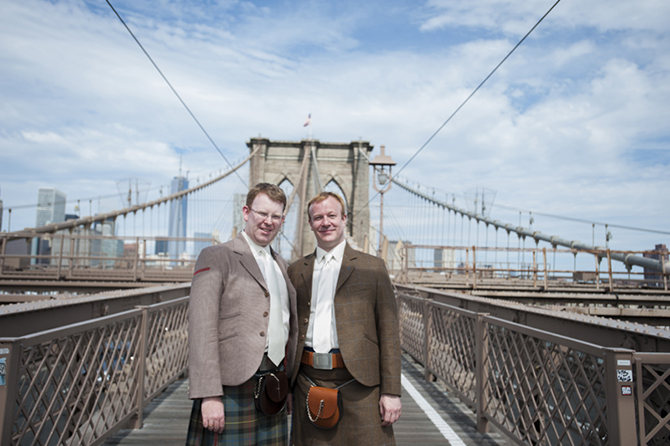 Gay wedding with a Scotish theme - Studio A Images