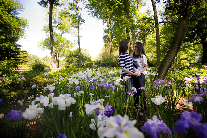 LGBT couple amongst the irises - Studio A Images